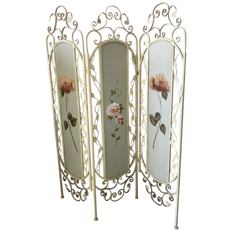 21st Century French Metal Painting Screen, 2000s For Sale