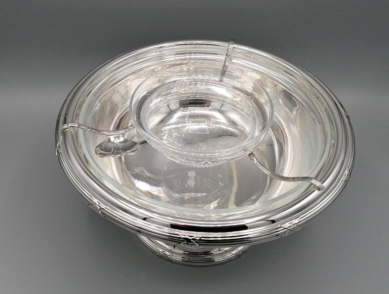 21th Century Italian Sterling Silver Gianmaria Buccellati Caviar Bowl For Sale 1