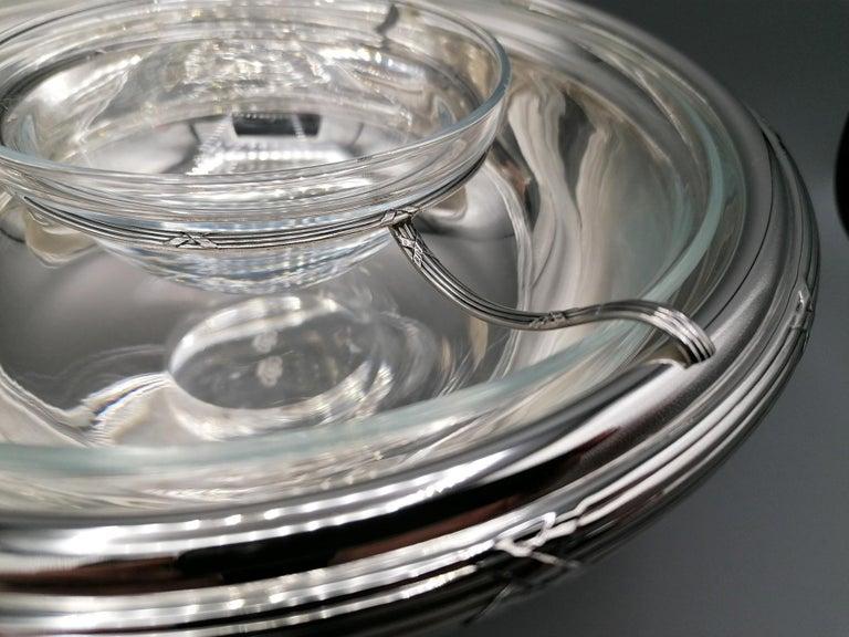 21th Century Italian Sterling Silver Gianmaria Buccellati Caviar Bowl For Sale 2