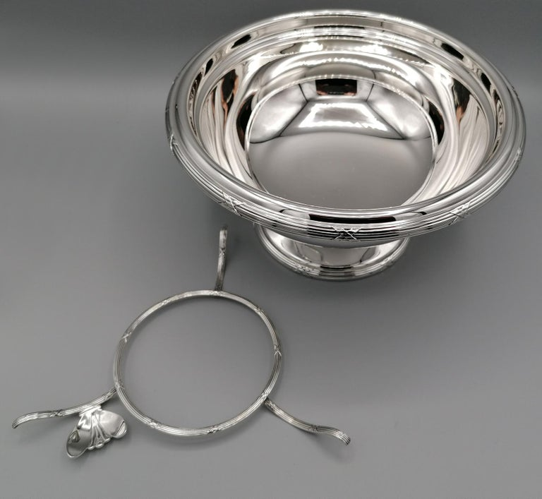 21th Century Italian Sterling Silver Gianmaria Buccellati Caviar Bowl For Sale 3
