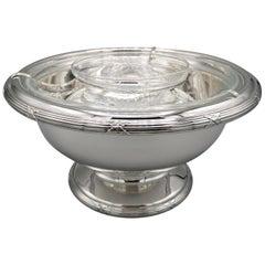 21th Century Italian Sterling Silver Gianmaria Buccellati Caviar Bowl