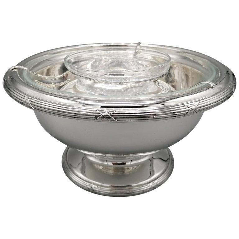 21th Century Italian Sterling Silver Gianmaria Buccellati Caviar Bowl For Sale