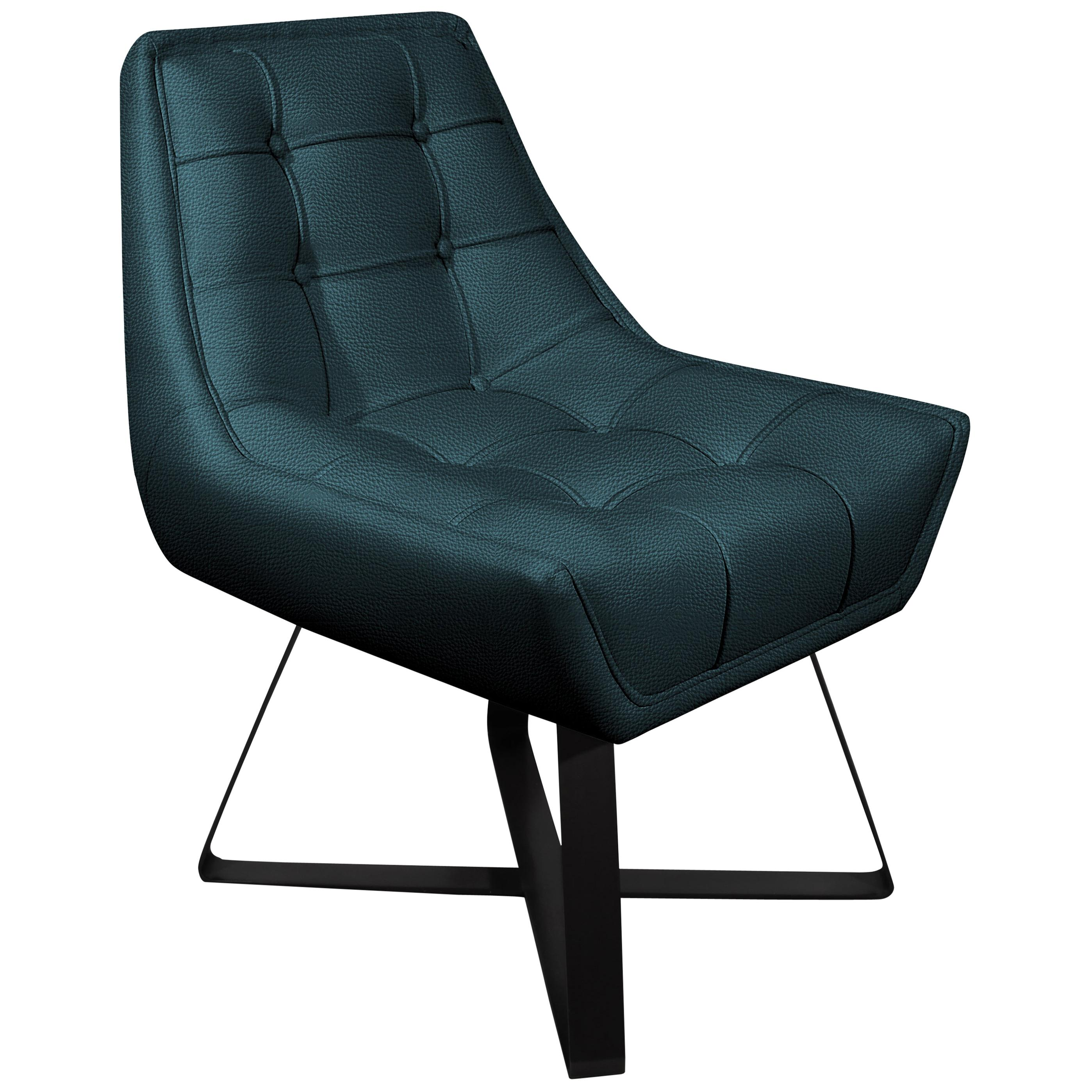 21th Century Kubrick Dining Chair Genuine Leather Aged Brushed Brass