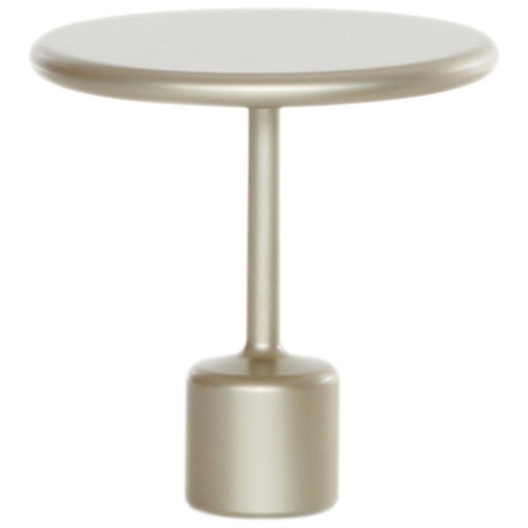 """FUCINA """"TAVOLOTTO"""" Maddalena Casadei Accessory Coffee Table Metal Champagne"""
