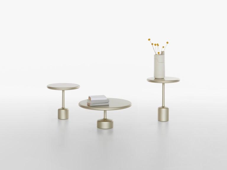 21th Century Maddalena Casadei Tavolotto Accessory Table Metal Black Matte For Sale 7