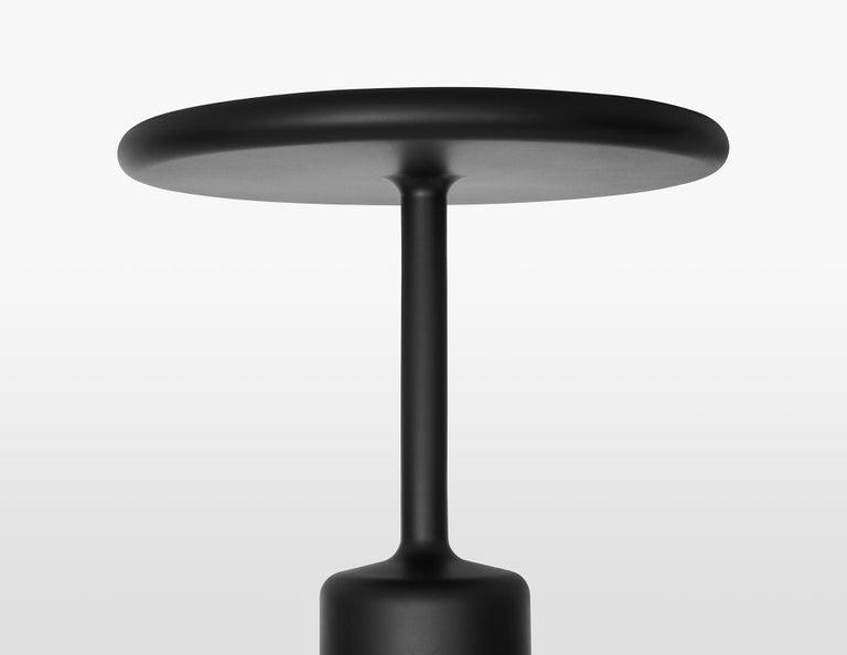 Italian 21th Century Maddalena Casadei Tavolotto Accessory Table Metal Black Matte For Sale