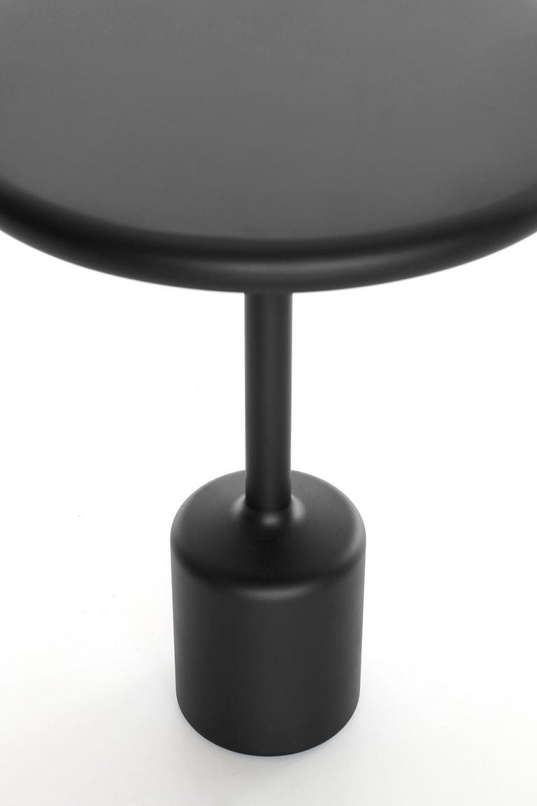 Contemporary 21th Century Maddalena Casadei Tavolotto Accessory Table Metal Black Matte For Sale