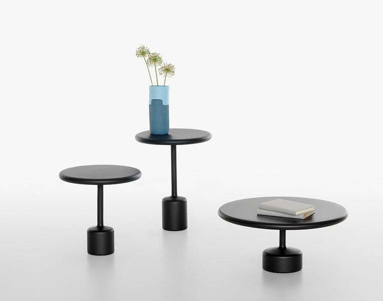 21th Century Maddalena Casadei Tavolotto Accessory Table Metal Black Matte For Sale 1
