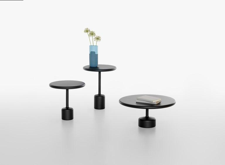 Italian 21st Century Maddalena Casadei Tavolotto Low Coffee Table Metal Black Matte For Sale