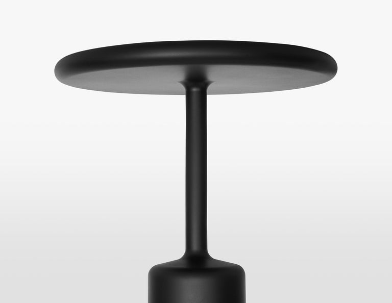 Italian 21st Century Maddalena Casadei Tavolotto Side Coffee Table Metal Black Matte For Sale