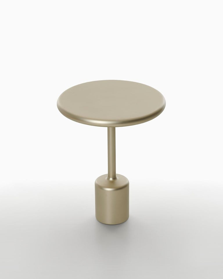 21st Century Maddalena Casadei Tavolotto Side Coffee Table Metal Black Matte For Sale 2
