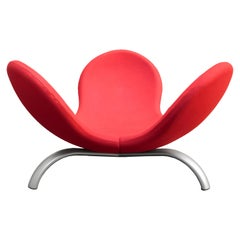 21th Century Steven Blaess 'Meditation Pod' Lounge Chair in Red Fabric for Edra