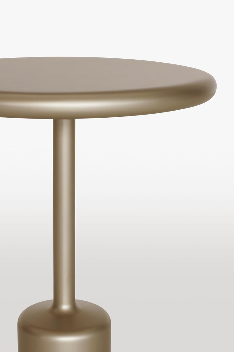 Tavolotto is a set of 3 tables, same look, different proportions. Side table, center low table, accessory table. Tavolotto appears monolithic, almost as if it were made of a single block, though it is not. It is welded, then polished so perfectly