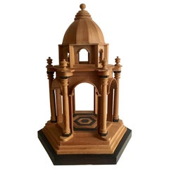 21th Century Wooden Neoclassical Architectural Model