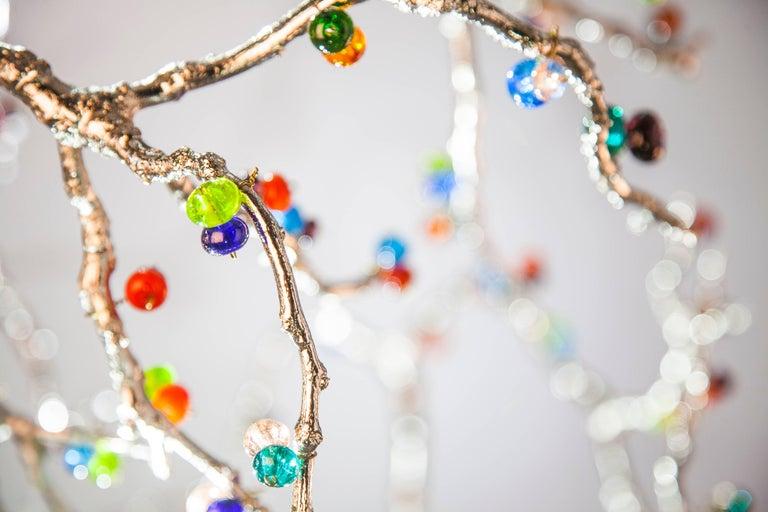 Skulpturale Moderne Handgefertigte LED Pendelleuchte Kronleuchter 2