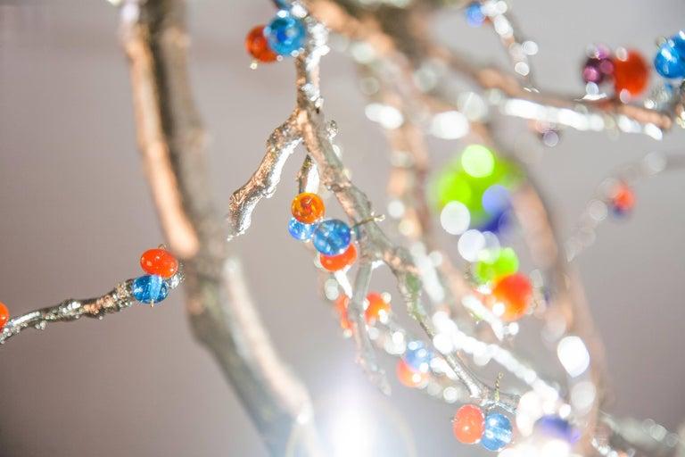 Skulpturale Moderne Handgefertigte LED Pendelleuchte Kronleuchter 4