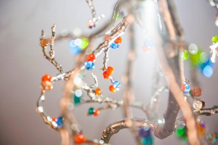 Skulpturale Moderne Handgefertigte LED Pendelleuchte Kronleuchter 7
