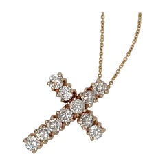 2.2 Carat 18k Yellow Gold Diamond Cross