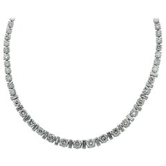 22 Carat Diamond Riviere Necklace