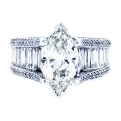 2.2 Carat Marquise Diamond Engagement Ring