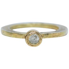 .22 Carat Yellow Diamond 18 Karat Gold Alternative Engagement Bridal Ring