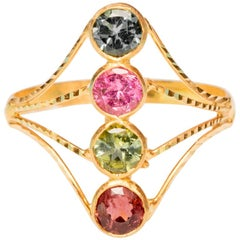 22 Karat Gold and Tourmaline Ring