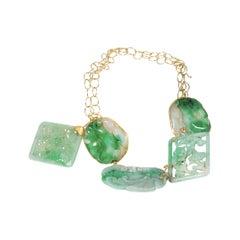 22 Karat Gold Chinese Jade Necklace
