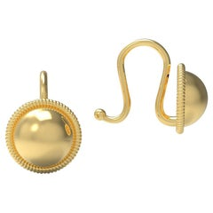 22 Karat Gold Dome Earrings by Romae Jewelry Inspired by an Ancient Roman Design
