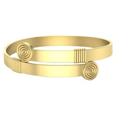 22 Karat Gold Geometric Bracelet by Romae Jewelry Inspired by an Ancient Design