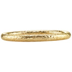 22 Karat Gold Hammered Band Ring