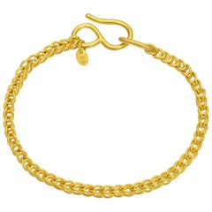 22 Karat Gold Handmade Ancient Greek Style Chain Bracelet