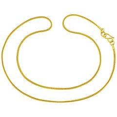 22 Karat Gold Handmade Ancient Greek Style Chain Necklace