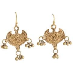 22 Karat Gold Indian Pendant Earrings