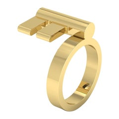 22 Karat Gold Key Ring by Romae Jewelry Inspired by an Ancient Roman Design