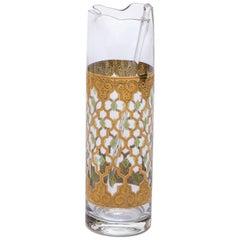 22-Karat Gold Moroccan Themed Vintage Cocktail or Martini Mixer, circa 1965