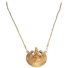 22 Karat Gold Perfume Vial Pendant Necklace India