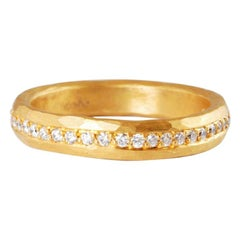 22 Karat Gold Ring with Channel Set Brilliant Cut Diamonds in a Full Eternity