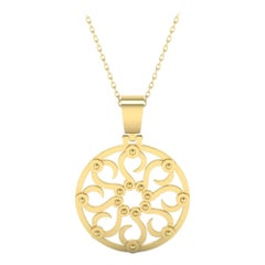 22 Karat Gold Sun Pendant by Romae Jewelry Inspired by an Ancient Roman Design