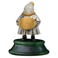 22 Karat Silver Jade Stand Figurine