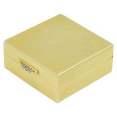 22 Karat Yellow Gold Box with Diamond Push Closure