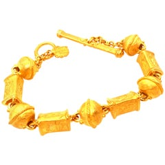 22 Karat Yellow Gold Bracelet by Denise Roberge