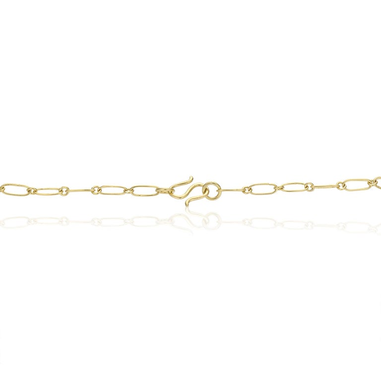 22 Karat Yellow Gold Granulated Smiling Lips Necklace with 22 Karat Link Chain For Sale 1