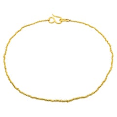22 Karat Yellow Gold Recycled Bead Necklace