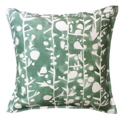 Leaf French Quilt Cotton Linen Pillow