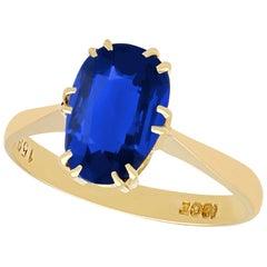 2.20 Carat Burmese Sapphire Yellow Gold Dress Ring