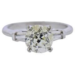 2.20 Carat Diamond Platinum Engagement Ring