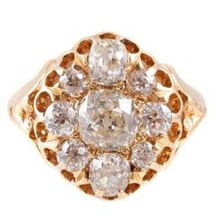 2.20 Carat Old European Old Mine-Cut Diamond Ring