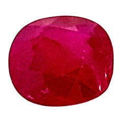 1.93 Carat GIA Certified Pigeon's Blood Red Unheated Cushion-Cut Burmese Ruby
