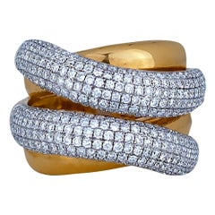 2.22 Carat Ladies Diamond Wide Band
