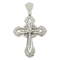 2.22 Carat Large Diamond Cross Pendant